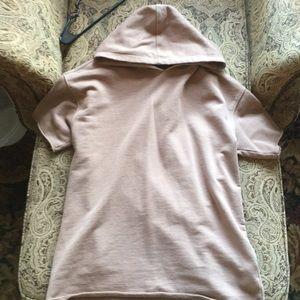 Distressed Short Sleeve Hoodie